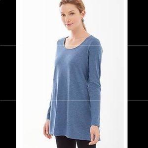 J.Jill long-sleeved tunic, blue, 2X.